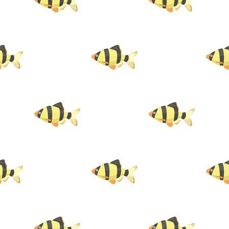 barbus: Barbus fish icon cartoon. Singe aquarium fish icon from the sea,ocean life cartoon stock vector Illustration