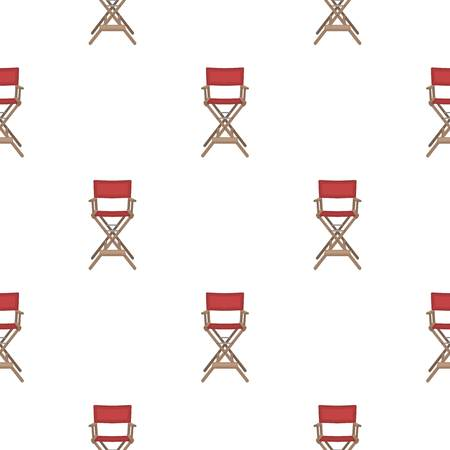 director's chair: Directors chair icon in cartoon style isolated on white background. Films and cinema symbol vector illustration. Illustration