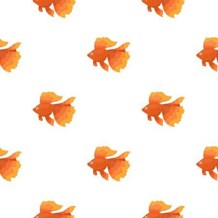 Gold fish icon cartoon. Singe aquarium fish icon from the sea,ocean life cartoon.