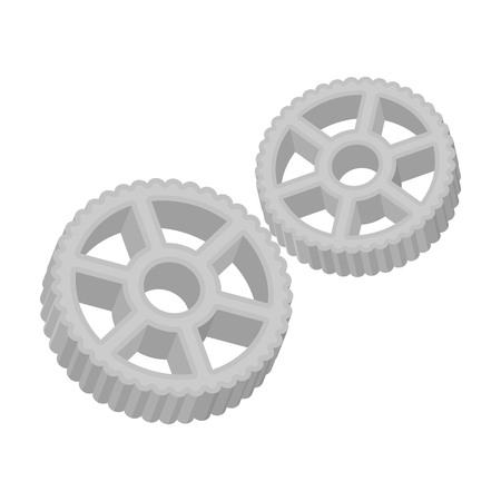 pleasing: Rotelle pasta icon in monochrome style isolated on white background. Types of pasta symbol vector illustration.