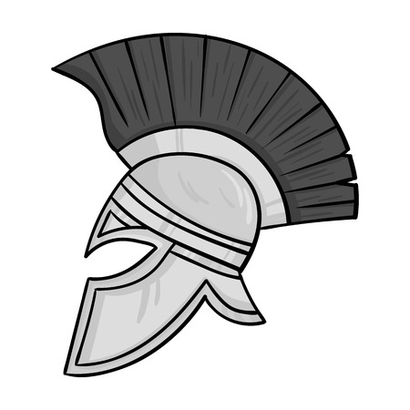 roman soldier: Roman soldiers helmet icon in monochrome style isolated on white background. Italy country symbol vector illustration. Illustration