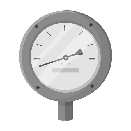 manometer: Oil manometer icon in monochrome style isolated on white background. Oil industry symbol vector illustration.