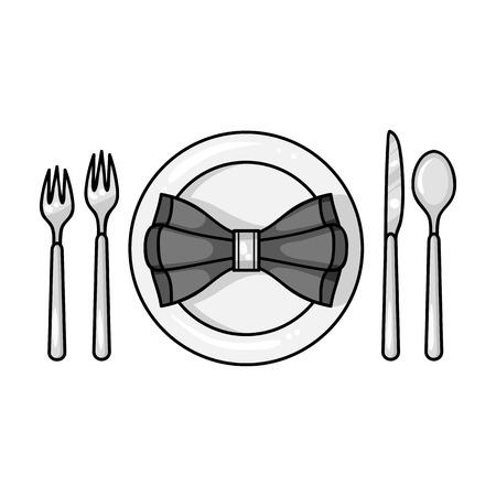 restaurant table: Restaurant table monochrometing icon in monochrome style isolated on white background. Restaurant symbol vector illustration.