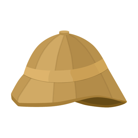 médula: Pith helmet icon in cartoon style isolated on white background. England country symbol vector illustration.