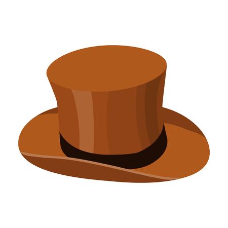 Icona del cappello superiore in stile cartoon isolato su sfondo bianco. Inghilterra paese simbolo illustrazione vettoriale.