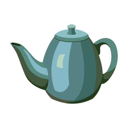 country kitchen: Teapot icon in cartoon style isolated on white background. England country symbol vector illustration.