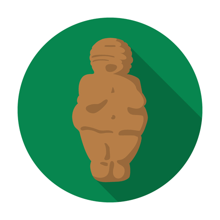 Venus of stone age icon in flat style isolated on white background. Stone age symbol vector illustration. Illustration