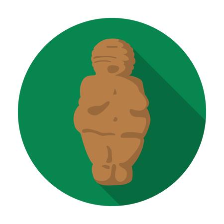 paleolithic: Venus of stone age icon in flat style isolated on white background. Stone age symbol vector illustration. Illustration