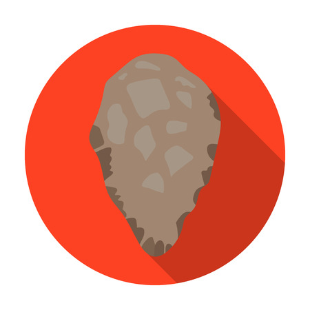 stoneage: Stone tool icon in flat style isolated on white background. Stone age symbol vector illustration. Illustration