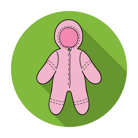romper: Baby bodysuit icon in flat style isolated on white background. Baby born symbol vector illustration. Illustration