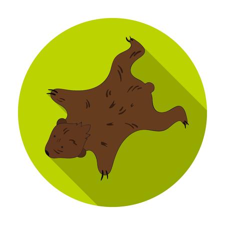 bearskin: Bearskin icon in flat style isolated on white background. Stone age symbol vector illustration.