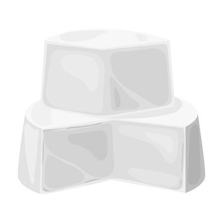 french board: Soft cheese icon in monochrome style isolated on white background. Milk product and sweet symbol vector illustration.