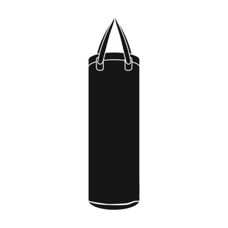 Boxing punching bag icon in black style isolated on white background. Boxing symbol vector illustration. Stock Illustratie