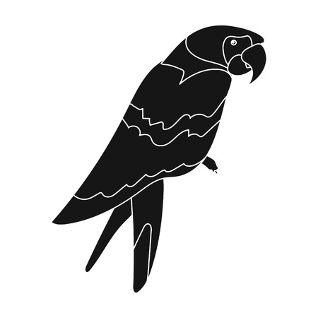 Pirate's parrot icon in black style isolated on white background. Pirates symbol vector illustration. Illustration