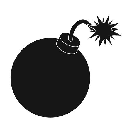 Pirate grenade icon in black style isolated on white background. Pirates symbol vector illustration.