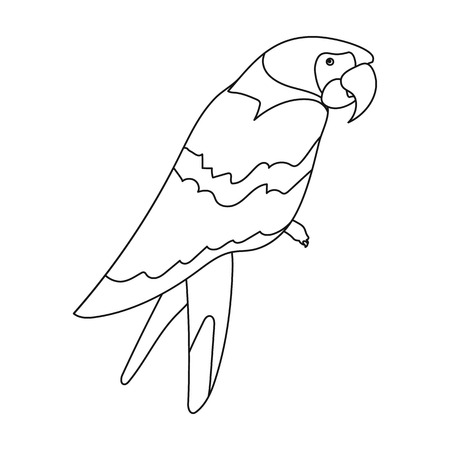 Pirate's parrot icon in outline style isolated on white background. Pirates symbol vector illustration.