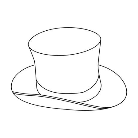 tophat: Top hat icon in outline style isolated on white background. England country symbol vector illustration. Illustration