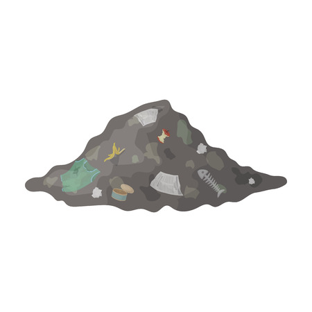 Dump icon in cartoon style isolated on white background. Bio and ecology symbol stock vector illustration. Illustration