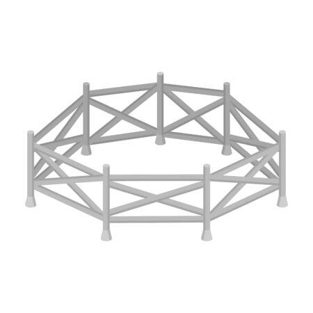 hippodrome: Paddock icon in cartoon style isolated on white background. Hippodrome and horse symbol stock vector illustration. Illustration