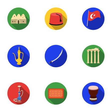 Trash and garbage set icons in flat style. Big collection of trash and garbage vector symbol stock illustration Illustration