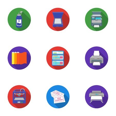 Typography set icons in flat style. Big collection of typography vector symbol stock illustration
