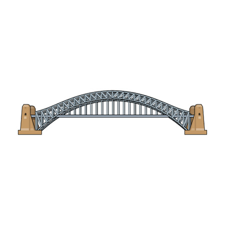 icono de Sydney Harbour Bridge en estilo de dibujos animados aislado en el fondo blanco. ilustración vectorial símbolo de la acción Australia.