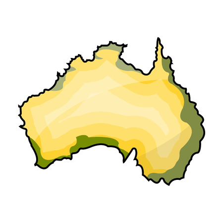 western town: Territory of Australia icon in cartoon style isolated on white background. Australia symbol stock vector illustration.