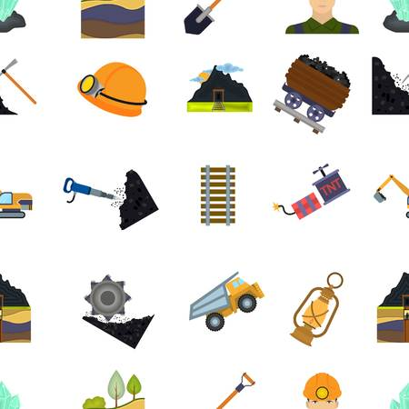 mine: Mine pattern icons in cartoon style. Big collection of mine vector illustration symbol.