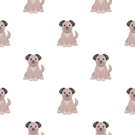 mongrel: Dog icon in cartoon style isolated on white background. Animal One pattern stock vector illustration