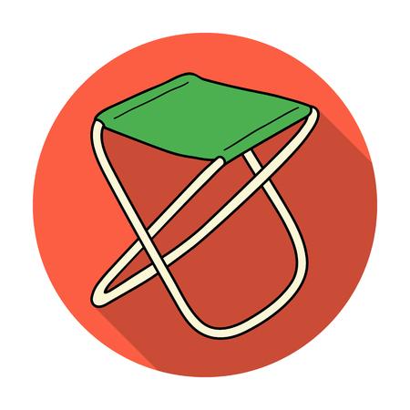 Icono De Silla Plegable En El Estilo De Dibujos Animados