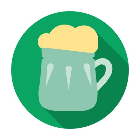 Mug of beer icon in flat style isolated on white background. Pub symbol stock vector illustration.