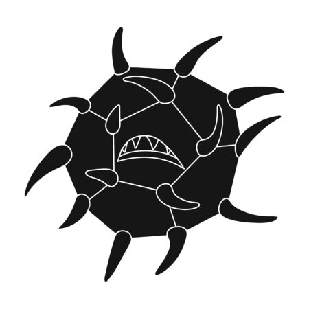 Computer virus icon in black style isolated on white background. Hackers and hacking symbol stock vector illustration.