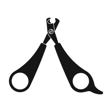 Pet nail clippers icon in black style isolated on white background. Veterinary clinic symbol stock vector illustration.