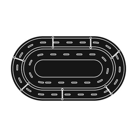 hippodrome: Hippodrome icon in black style isolated on white background. Hippodrome and horse symbol stock vector illustration. Illustration