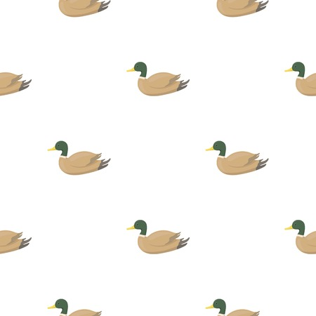 Duck icon in cartoon style isolated on white background. Hunting pattern stock vector illustration. Illustration