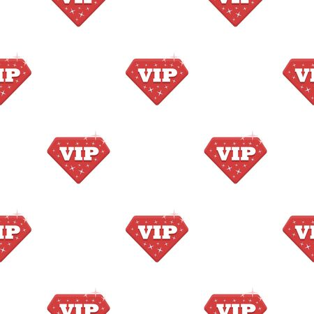 VIP icon in cartoon style isolated on white background. Label pattern stock vector illustration.