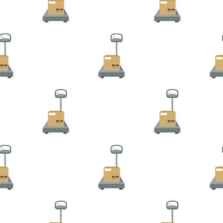 Libra icon in cartoon style isolated on white background. Logistick symbol stock vector illustration. Reklamní fotografie