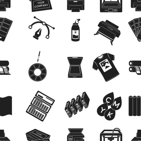 Typography pattern icons in black style. Big collection of typography vector symbol stock illustration
