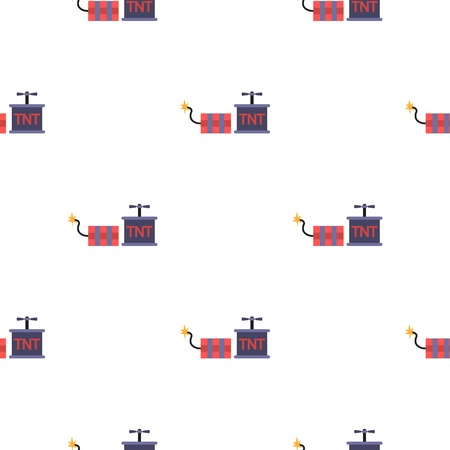 dynamite: Dynamite icon in cartoon style isolated on white background. Mine pattern stock vector illustration.