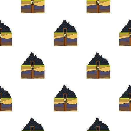 Schacht-Symbol im Cartoon-Stil auf weißem Hintergrund. Minen Muster Vektor-Illustration.
