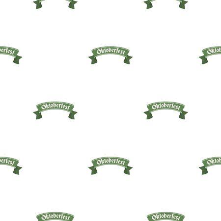 bavarian culture: Oktoberfest banner icon in cartoon style isolated on white background. Oktoberfest pattern stock vector illustration.