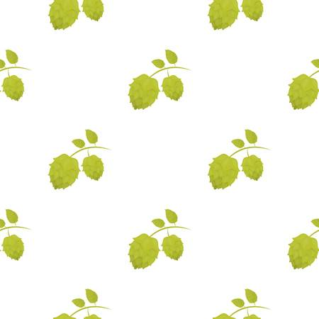 Hops icon in cartoon style isolated on white background. Oktoberfest pattern stock vector illustration.