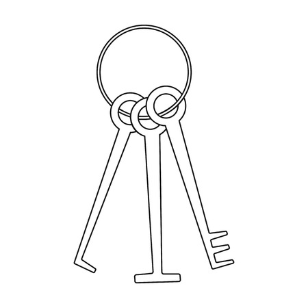 Hackers lockpicks icon in outline style isolated on white background. Hackers and hacking symbol stock vector illustration.