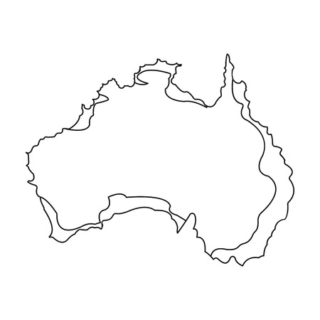 Territory of Australia icon in outline style isolated on white background. Australia symbol stock vector illustration. Illustration