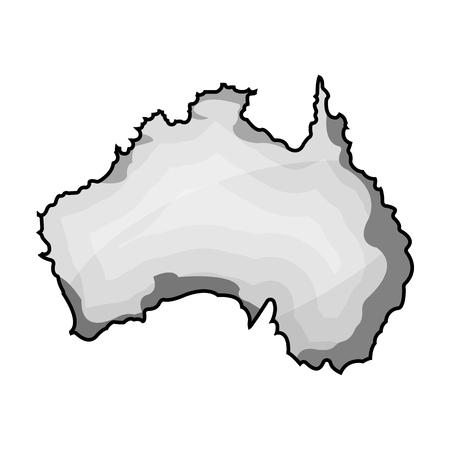 Territory of Australia icon in monochrome style isolated on white background. Australia symbol stock vector illustration. Illustration