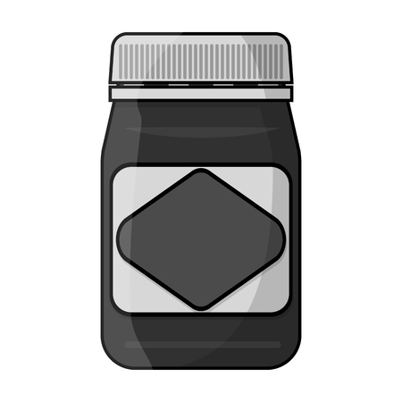 Australian food spread icon in monochrome style isolated on white background. Australia symbol stock vector illustration.