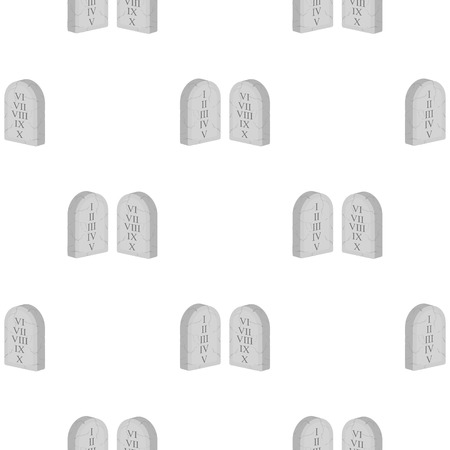 commandments: Ten Commandments icon in cartoon style isolated on white background. Religion pattern stock vector illustration.