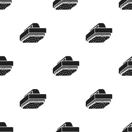 brush cleaner: Cleaner brush black icon. Illustration for web and mobile design.