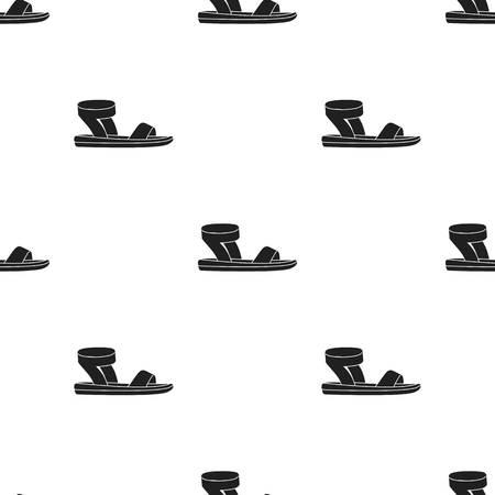 69590935 - Frauensandalenikone im schwarzen Stil lokalisiert auf weißem  Hintergrund. Schuhe Muster Lager Vektor-Illustration. dcf0801154