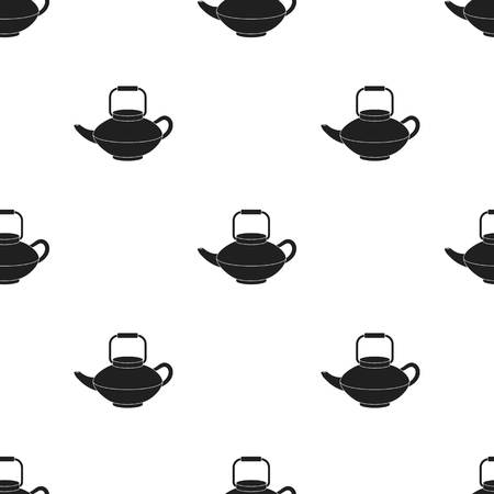 Tetsubin icon in  black style isolated on white background. Sushi pattern stock vector illustration.